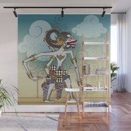 Modification of the puppet characters Hanuman white monkey in the story of the Ramayana Wall Mural