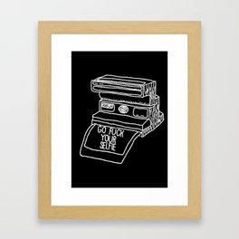 Go Fuck Your Selife Framed Art Print