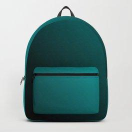 Gradient Aqua and Black Backpack