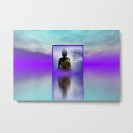 peace and silence Metal Print