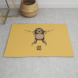 Hang in There Baby Sloth Rug