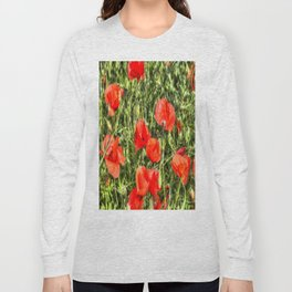 Poppys Of Summer Long Sleeve T-shirt