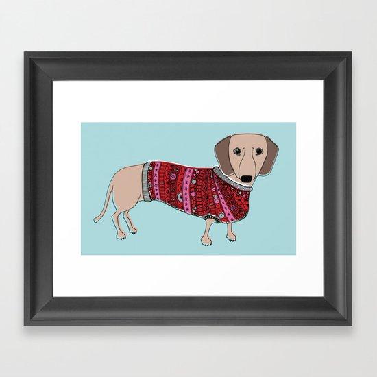 Sausage Dog Framed Art Print