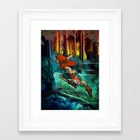 red hood Framed Art Prints featuring Red Hood by Artgerm™