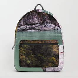 abonded george river scenic view wood forrest new zealand Backpack