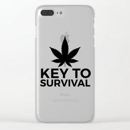 Weed Cannabis leaf gift idea 420 Clear iPhone Case