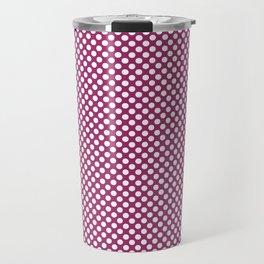 Festival Fuchsia and White Polka Dots Travel Mug