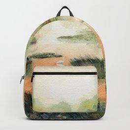 Egret On The Marsh Backpack