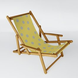 Simply Dots Retro Gray on Mod Yellow Sling Chair
