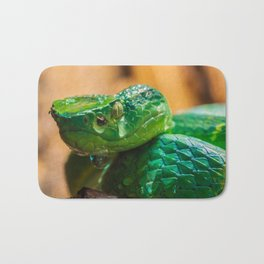 green Palm pit viper Bath Mat