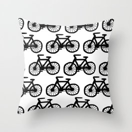 Bicycle Doodle Throw Pillow