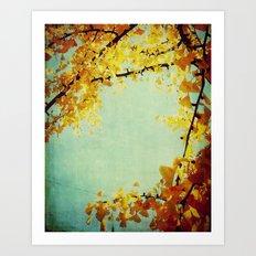 Gingko Branches Art Print