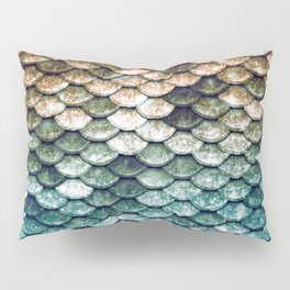 Mermaid Tail Teal Ocean Pillow Sham