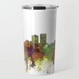 Baton Rouge, Louisiana Skyline - SG - Safari Buff Travel Mug