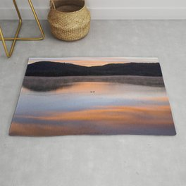 Out of the Depths (Sunrise on Lake George) Rug