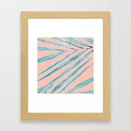 palm leaf coral Framed Art Print