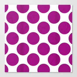Fuchsia Polka Dot Canvas Print