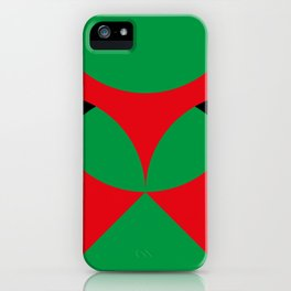 A beautiful martian green and red flower, coming out from a round horizon. iPhone Case
