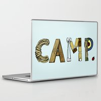 camp Laptop & iPad Skins featuring CAMP. by AnnieInk