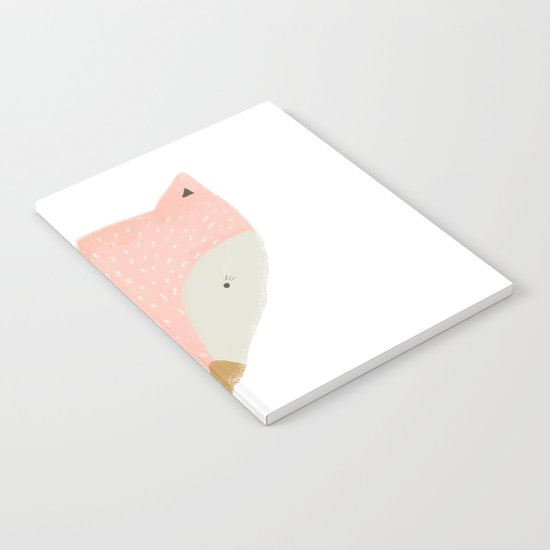 pink fox Notebook