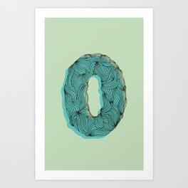 """""""O"""" Doodle Art Print"""