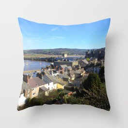Spring Day At Conwy Throw Pillow