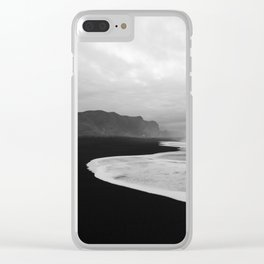 Black Sand Beach of Vik Iceland Clear iPhone Case