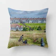 Turnberry Hotel and Golf Course Throw Pillow