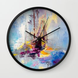Illusive boats Wall Clock
