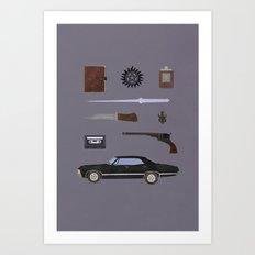Supernatural v2 Art Print