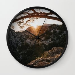 Sunset - Landscape and Nature Photography Wall Clock