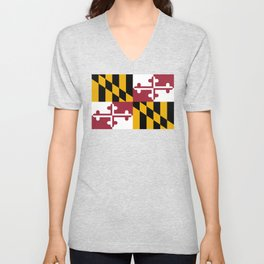Flag of Maryland, High Quality image Unisex V-Neck
