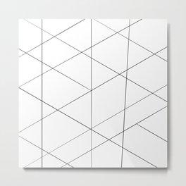 Geometric black white artistic abstract pattern Metal Print