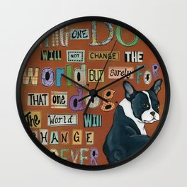 Dog World Forever Wall Clock