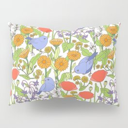 Birds and Wild Blooms Pillow Sham