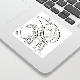 Robot Pirate - ink Sticker
