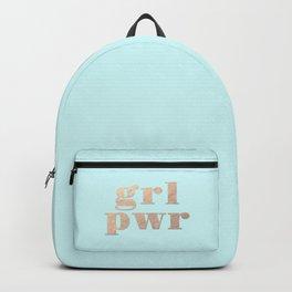 GRL PWR - rose gold Backpack
