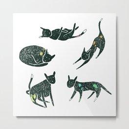 Cat Poses Metal Print