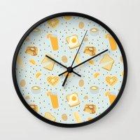 breakfast Wall Clocks featuring Breakfast by Ambi Sweetie Pie