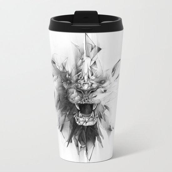 STONE LION Metal Travel Mug