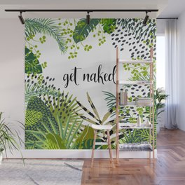 Get Naked Quote, Tropical Palm Leaf Jungle Wall Mural