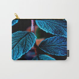 Peacock Blue Leaves Nature Background #decor #society6 #buyart Carry-All Pouch