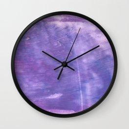 Ube abstract watercolor Wall Clock