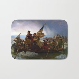Washington Crossing the Delaware by Emanuel Leutze (1851) Bath Mat