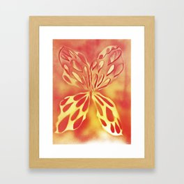Imprinted Butterfly Framed Art Print