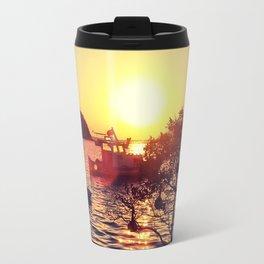 sunset in gumusluk bodrum Travel Mug