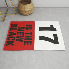 17 is the new BLACK Rug