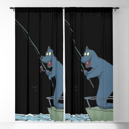 Fisher on a boat Blackout Curtain