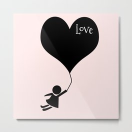 flying with your love Metal Print