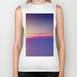 Sunset on the Atlantic Ocean Biker Tank